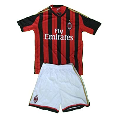 Ac Milan Soccer Kids Sets Jersey & Short Sizes 8 .new