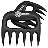 Meat Shredder Claws for Pulled Pork - Free BBQ Recipe Book - Meat Handler Forks for Shredding Pulled Pork, Chicken, Beef, Brisket, Turkey, Hams, Roasts, and Any Other Meat That Needs to Be Pulled or Shredded - Bear Claw Shape Makes Shredding Meat Quick and Easy Compared to Regular BBQ Forks - Use Both Meat Handling Forks for Picking up Hot Food in the Kitchen - Meat Claws Also Used for Stabilizing When Carving Turkey, Watermelon, and Ham - Great for Mixing Salads and Vegetables - Unique Gift for Your Dad, Husband, Uncle, or Son - Best Meat Shredder Claws Come with Cave Tools No Questions Asked Lifetime Money Back Guarantee