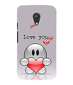 Fuson 3D Printed Valentines Designer Back Case Cover for Motorola Moto G2 - D1095