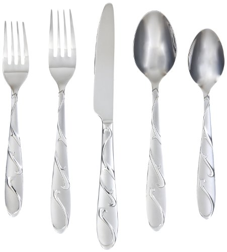 Farberware Chipotle Sand 20-Piece Flatware Set, 18/0 Stainless Steel (Kitchen Silverware compare prices)