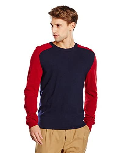 (+) People Pullover Lepre [Blu/Rosso]