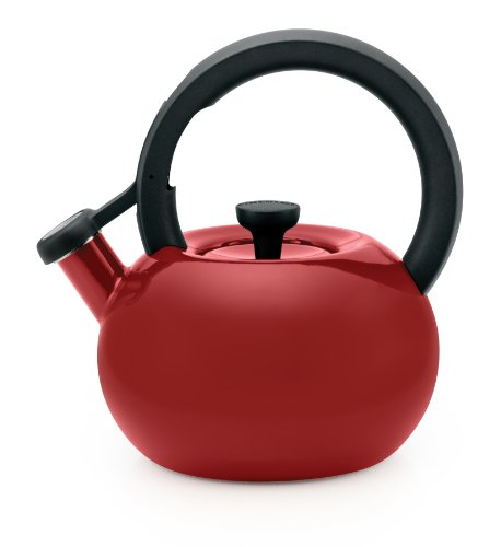 Circulon 1-1/2-Quart Circles Teakettle, Rhubarb Red