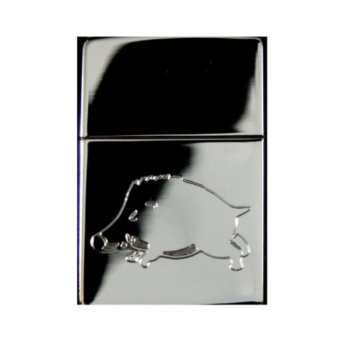 Lighter - Razorback Pig Zippo 250 High Polish Chrome (Engraved By Hip Flask Plus) at Amazon.com