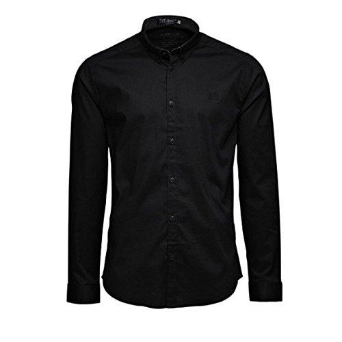 JACK & JONES -  Camicia Casual  - Maniche lunghe  - Uomo Nero - Nero 44
