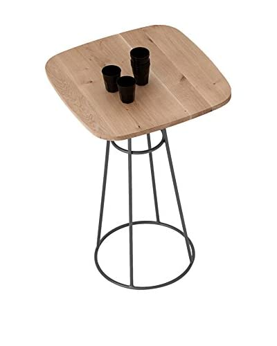 Domitalia Barrique Table, Anthracite/Light Wood