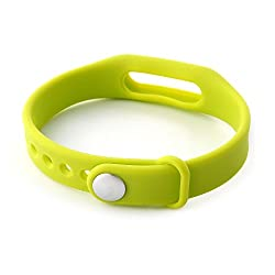 Heartly Wrist Strap Band Belt Wristband Silicone Wearable Case Cover For Xiaomi Mi Band - Yellow Green