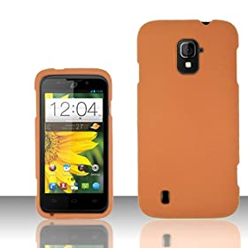 On Case Phone Cover for ZTE Majesty 796C + Screen Protector (Orange