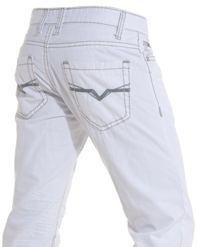 Gov denim - Jean gray stitching white man to trend and fashion - Color: White Size: Fr 36 US 29