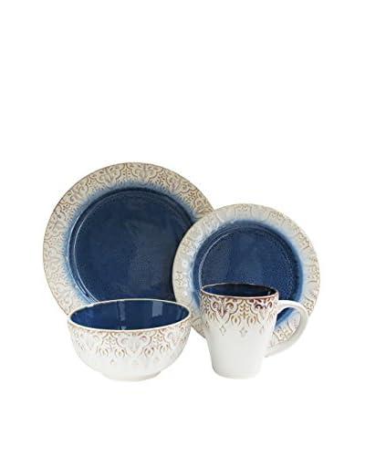 American Atelier Granada 16-Piece Dinnerware Set, Blue