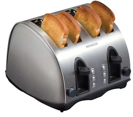 Kenwood 4 Slice Brushed Steel Toaster TTM406 by Kenwood