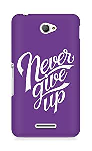AMEZ never give up Back Cover For Sony Xperia E4