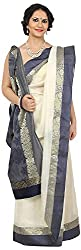 SHRI BALAJI SILK & COTTON SAREE EMPORIUM Women's Tassar Silk Saree (1)
