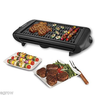 Electric Indoor Grill Portable Smokeless Kitchen Non Stick Cooking BBQ Griddle (Mini Indoor Electric Grill compare prices)