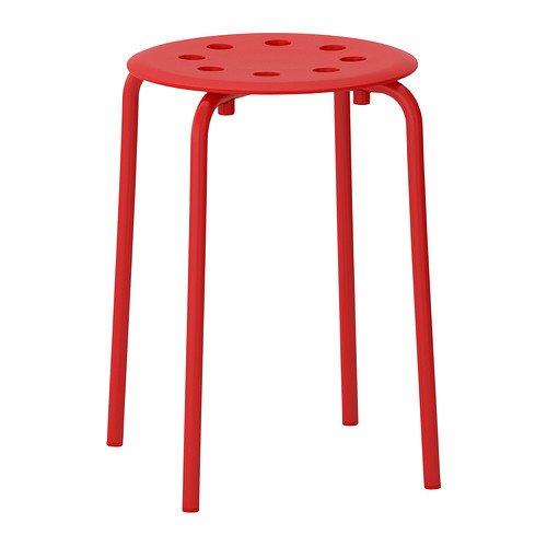 IKEA MARIUS - Taburete, rojo