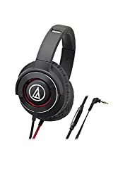 Audio-Technica Solid Bass ATH-WS770ISBRD Headphones with Mic (Black/Red)