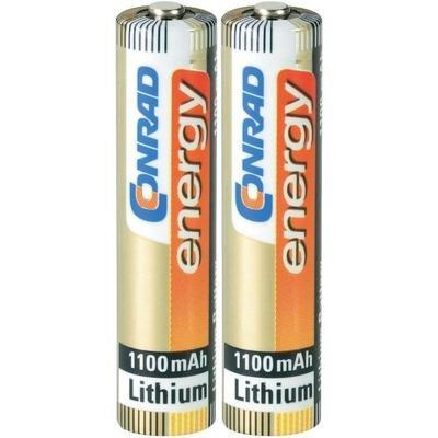 2 piles AAA (R03) lithium 1,5V 1100 mAh Conrad Energy XP