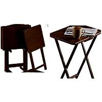 Mainstays 5-Piece Tray Table (Walnut)