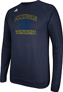 Michigan Wolverines Adidas Climawarm Synthetic Ultimate Tech Crew by adidas