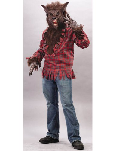 Werewolf Costume Brown Adult Mens Costume