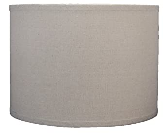 urbanest linen drum lamp shade 14 inch by 14 inch by 10. Black Bedroom Furniture Sets. Home Design Ideas