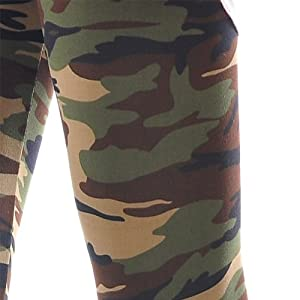 Zarabe Lady Sexy Camouflage Skinny Elastic Tights Stretchy Multicolor