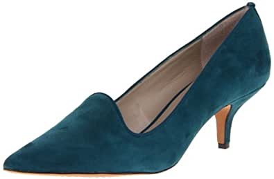 STEVEN by Steve Madden Women's Corry Pump,Teal Suede,7 M US