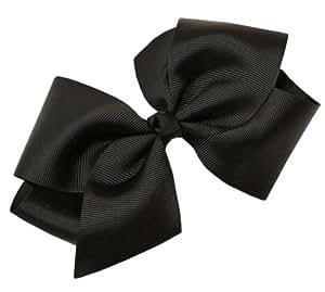 Webb Direct 2U Girls XL GrosGrain Knot Hair Bow Alligator Clip Black (1092A)