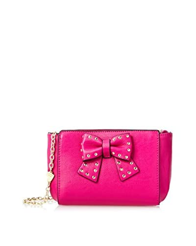 Betsey Johnson Women's Sincerely Yours Cross-Body, Pink