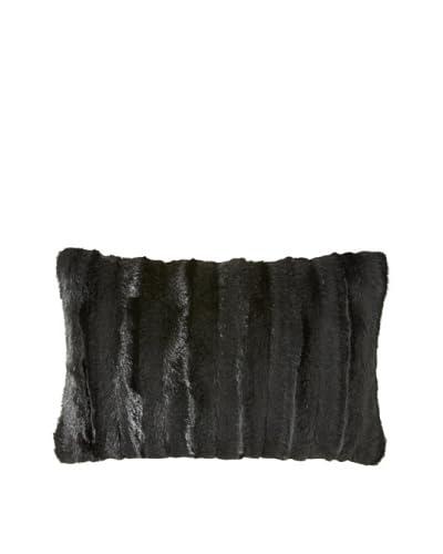 Montague & Capulet Faux Mink Boudoir Pillow, Black