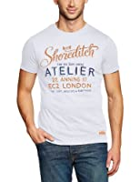 edc by ESPRIT Herren T-Shirt Slim Fit 103CC2K008