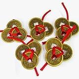 Jaz Deals 15 Feng Shui Lucky Coins (5x5x5 ,Golden)