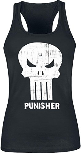 The Punisher Punish Skull Top donna nero XL