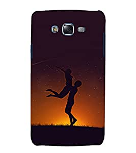 printtech Love Couple Playing Back Case Cover for Samsung Galaxy E5 / Samsung Galaxy E5 E500F