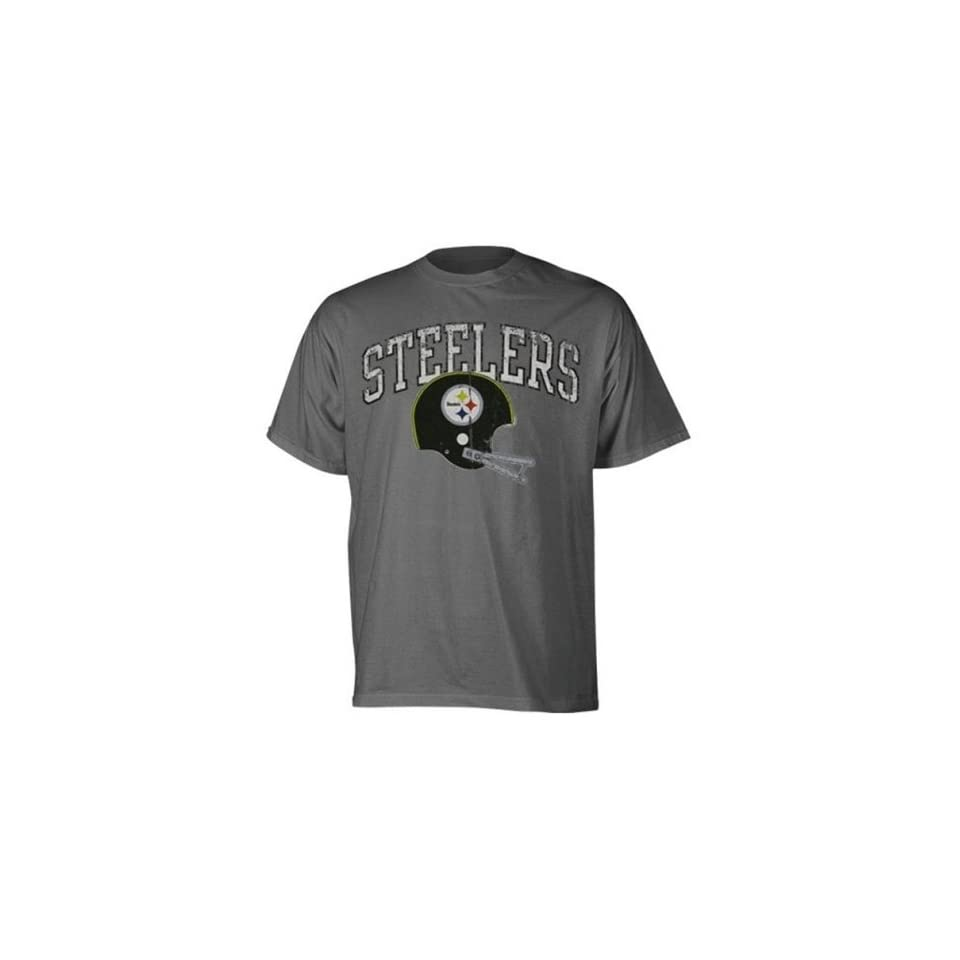 ac57e5105 Mens Pittsburgh Steelers Charcoal Buttonhook Vintage Premium Tshirt ...