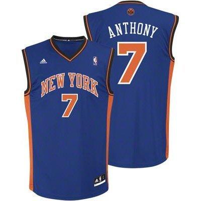 Carmelo Anthony New York Knicks Blue 7 NBA adidas Revolution 30 Replica Basketball Jersey