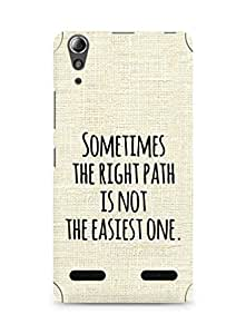AMEZ the right path is not easy Back Cover For Lenovo A6000