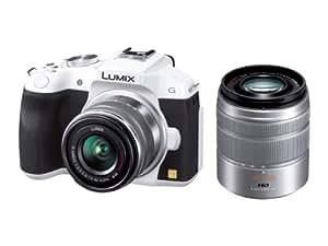 Panasonic ミラーレス一眼カメラ ルミックス G6 ダブルズームレンズキット 標準ズームレンズ/望遠ズームレンズ付属 ホワイト DMC-G6W-W