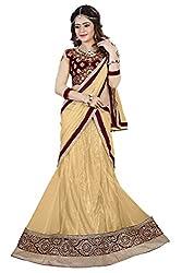 Lehenga Choli Chikoo Color Free Size Circular Style Fully Stitched Womens Net lehenga choli