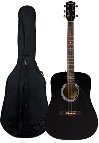 Fender FA-100 Limited Edition Dreadnought Acoustic Guitar with Gig Bag - Black