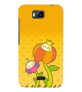 printtech Funny Flower Design Back Case Cover for Huawei Y5c