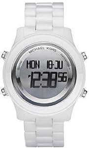 Michael Kors Digital White Ceramic Bracelet Ladies Watch MK5359