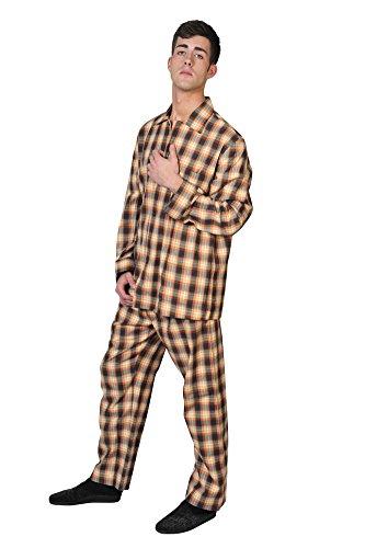 brioni-pajama-men-orange-cotton-checkered