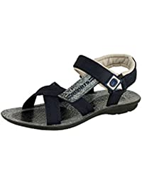 Tempo Men's Grey Blue Synthetic Leather Sandal