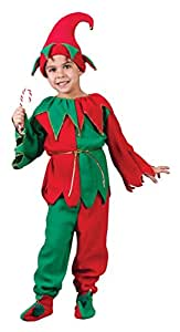 Childs Elf Costume - Kids Elf - 6 PC SET
