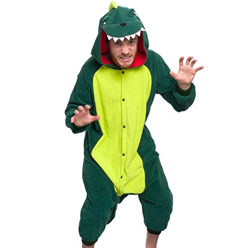 Silver Lilly Adult Pajamas - One Piece Cosplay Animal Costume (Dinosaur, XL)