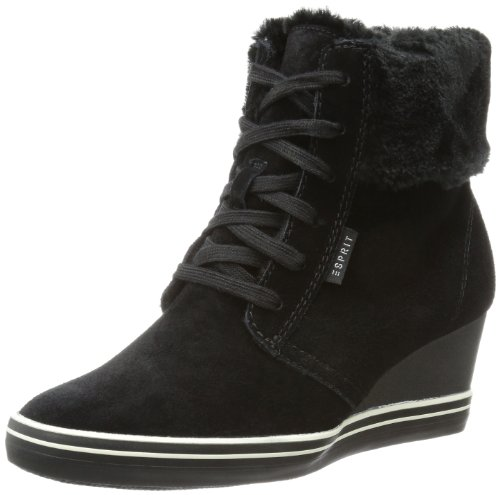ESPRIT Womens Lexa Lu Wedge High-top#563 Black Schwarz (black 001) Size: 5 (38 EU)