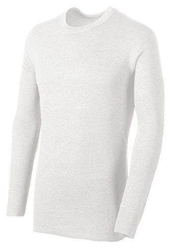 Duofold by Champion Thermals Men's Long-Sleeve Base-Layer Shirt, Winter White, XL