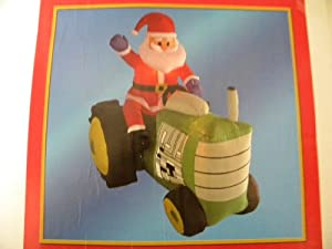 5ft Santa on Christmas Tractor Airblown Inflatable