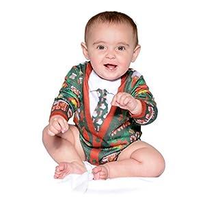 Infant Ugly Christmas Cardigan Longsleeve Bodysuit Romper