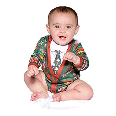 Infant Ugly Christmas Cardigan Longsleeve Bodysuit Romper